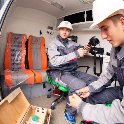 Specialists of the mobile laboratory of non-destructive testing Garant Expert in Moscow