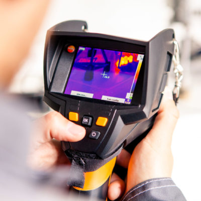 Conduct energy audit using thermal imager TESTO 875-1I