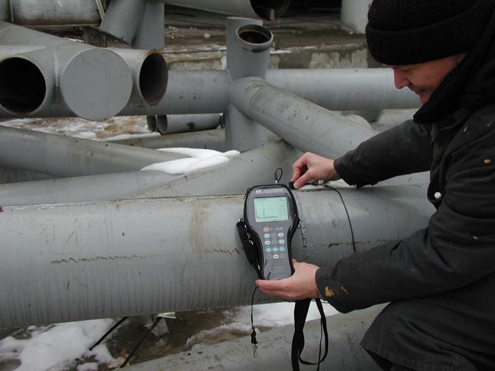 Фото применения дефектоскопа А1212 MASTER (взято с acsys.ru)