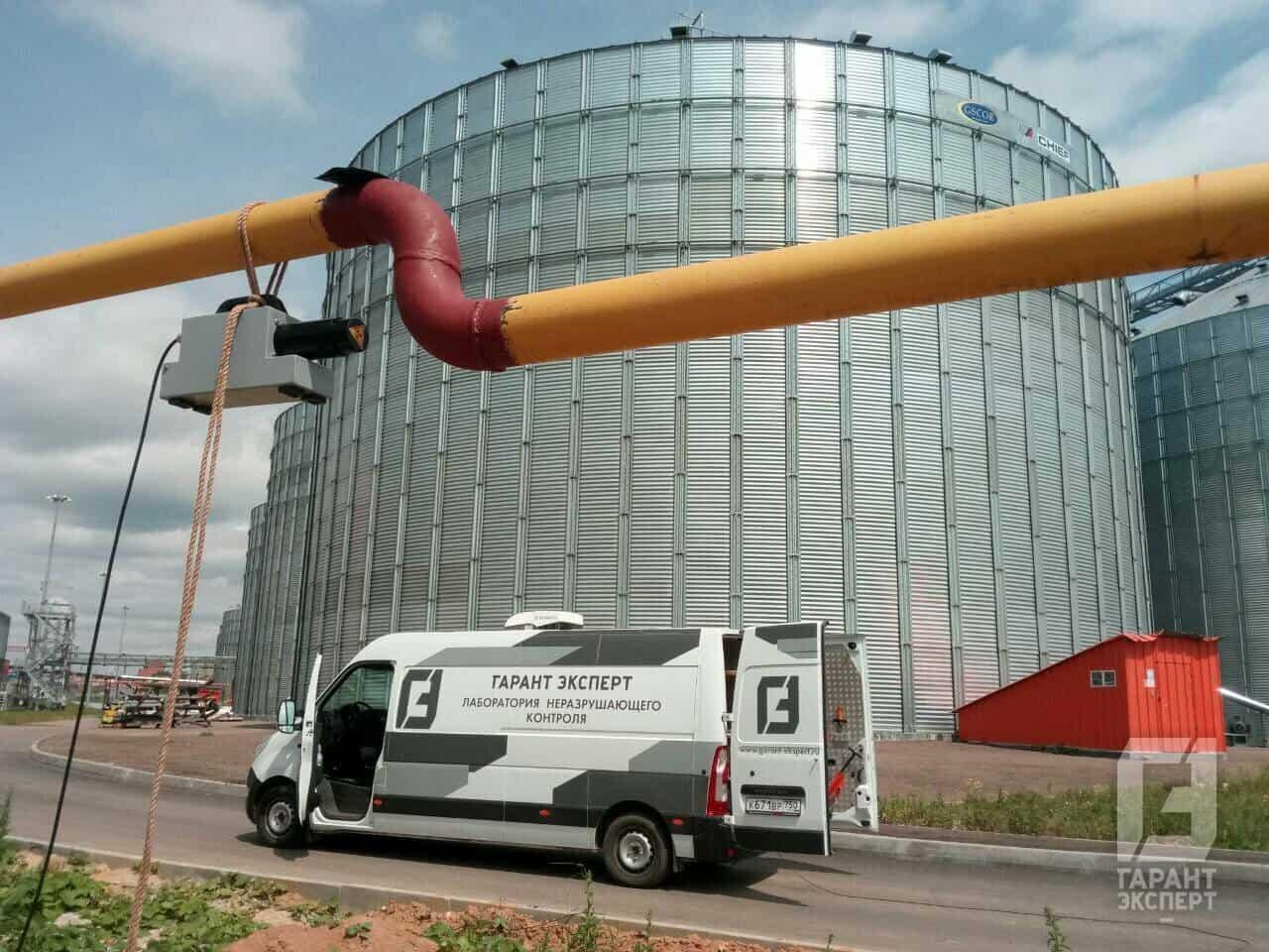Контроль качества сварных соединений газопровода высокого давления на объекте «Биотехнологический комплекс «РОСВА»
