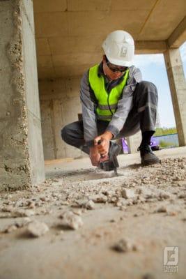 Examination of building materials at the facility